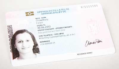 ノルウェー永住権居住許可カード