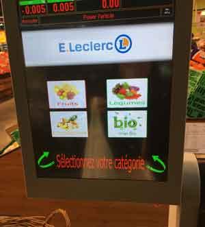 フランスのスーパーはかり付きの機械