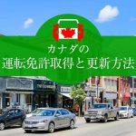 カナダの運転免許取得方法と更新方法